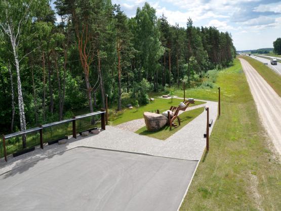 """""""MOKAS"""". Poilsio aikštelės šalia kelio A9 Panevėžys-Šiauliai meninis-architektūrinis projektas. 2009-2010 m."""