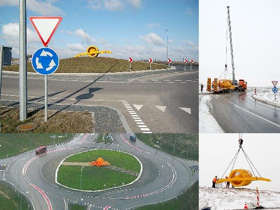 """Meninis-architektūrinis projektas """"VOLAS"""" žiedinėje sankryžoje kelyje Šiauliai-Panevėžys. 2010 m."""
