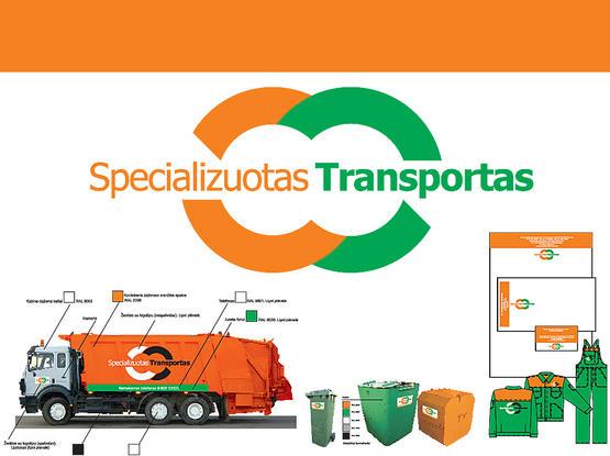 """Identifikacinė grafika """"Specializuotas transportas""""."""