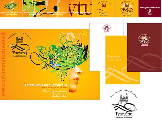 Tarptautinio menų festivalio reklama.