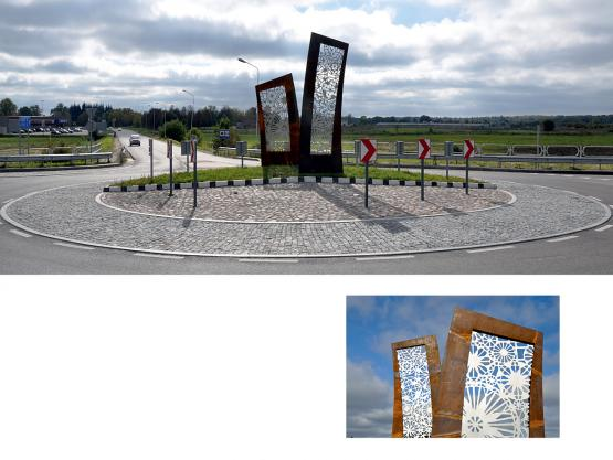 Skulptūra ETNO. Žiedinė sankryža prie Rumšiškių, 2014.