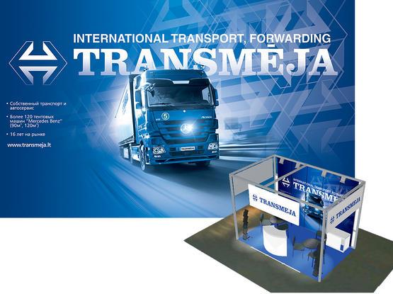 """Stendo apipavidalinimas ir dalomoji reklaminė medžiaga tarptautinėje parodoje """"TransRusia 2011"""""""