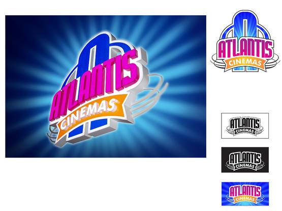 """Ženklas """"ATLANTIS CINEMAS""""."""